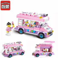 HOT NEW City Friends Princess Ice Cream Car Outing Bus Construction Building Blocks Sets Kit Kid Toy Compatible Legoings