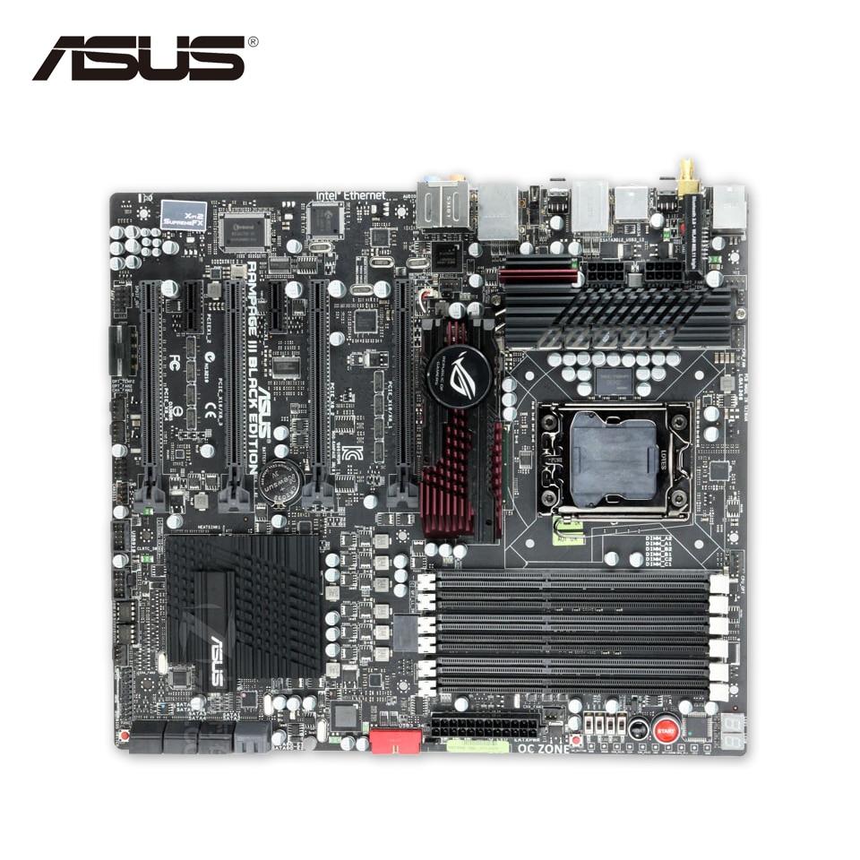 Asus Rampage III Black Edition Original Used Desktop Motherboard X58 Socket LGA 1366 i7 DDR3 48G USB3.0 E-ATX motherboard lga 1366 cpu bga soldering socket with tin balls