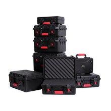 Защитный защитный ящик, ящик для инструментов, оборудование, коробка для инструментов, ударопрочный чехол для инструментов на открытом воздухе с пенопластом