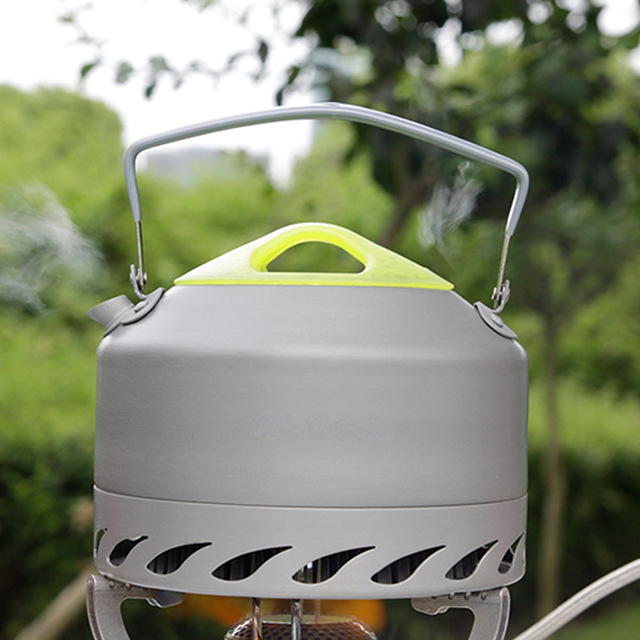 New High Quality ALOCS 0.9L Portable Ultra-light Outdoor Hiking Camping Survival Water Kettle Teapot Coffee Pot Oxide Aluminum 1