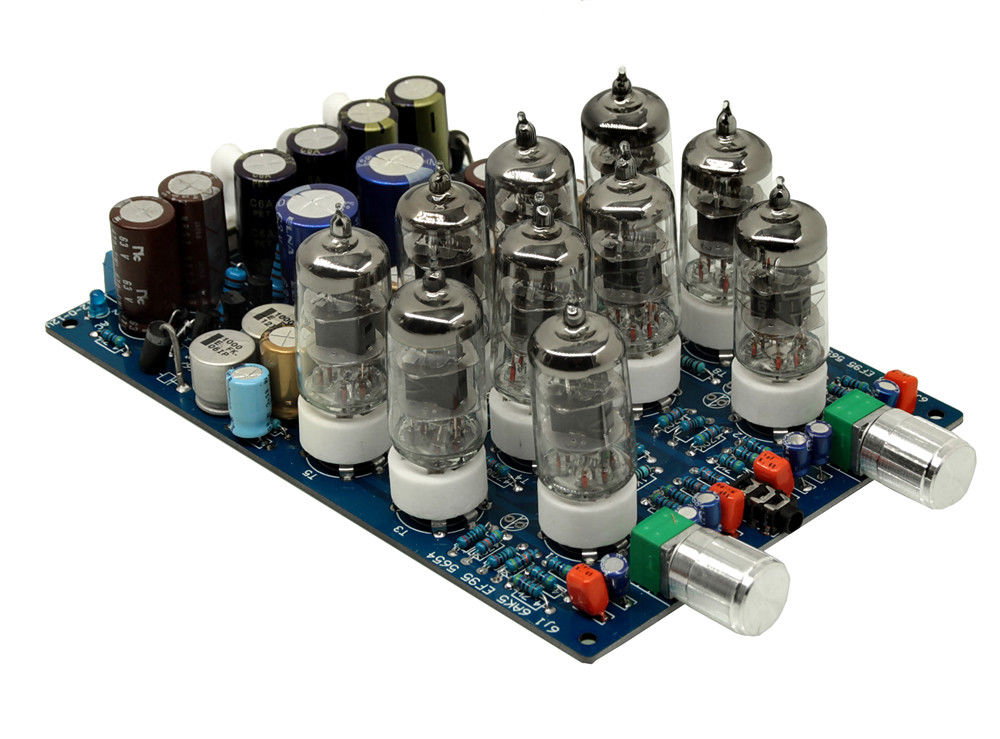 Douk Audio 10PCS 6J1 Vacuum Tube Headphone Pre Amplifier HiFi Stereo Amp Board 1pcs high quality little bear p5 stereo vacuum tube preamplifier audio hifi buffer pre amp diy new