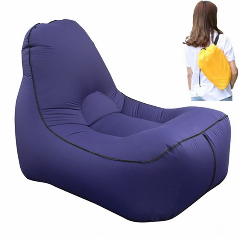 Inflatable Air Lounge Sofa Outdoor Beach Chair Living Room Lazy Bean Bag Lounger Camping Hiking Fishing Chairs Garden Sofa