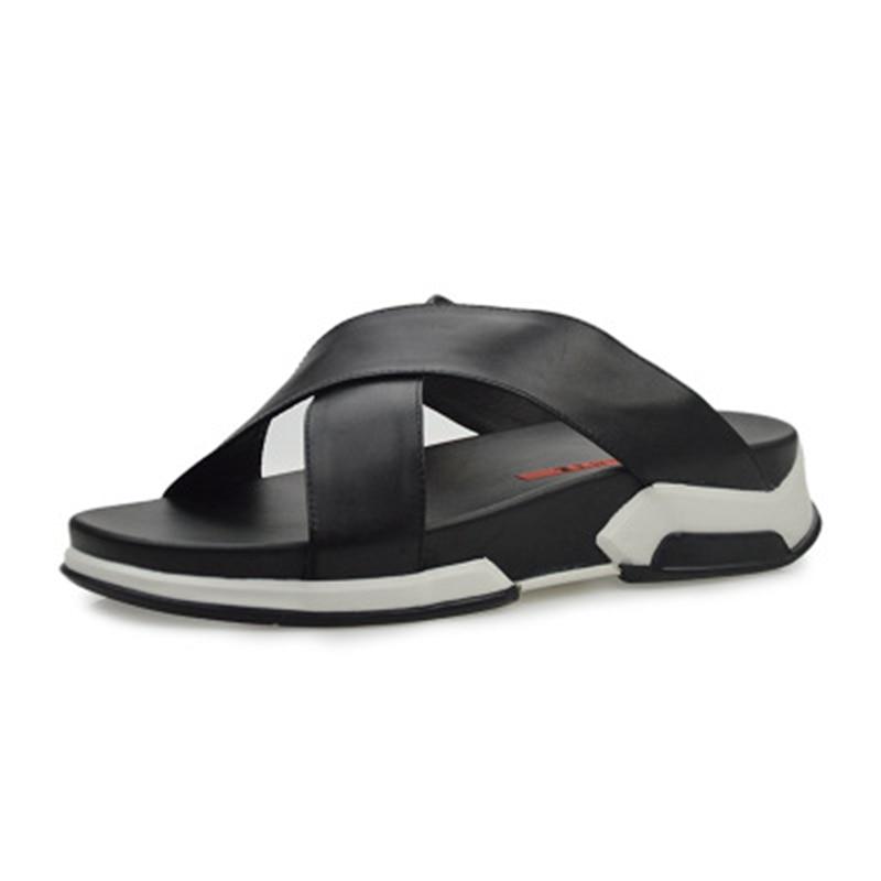 De Plana Casuais Sapatos Sandália Primavera Luxo Praia Nova Sólidos Chinelos Lazer Homens Moda Concise Verão Sandálias HCnqw781