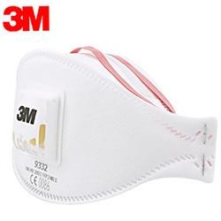 Genuine 3M 9332 Anti-dust Protective Mask Anti-fog Haze Dust-proof FFP3 Level Anti-PM2.5 Headband Formula Exhalation Valve Mask