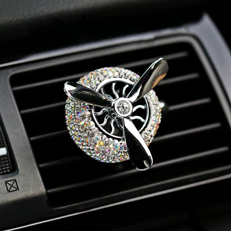 4PCS Crystal Rhinestone Universal Stem Covers with 2Pcs Car Decor Crystal Rhinestone Bling Sticker Emblem Ring for Car Engine Ignition Button Key /& Knobs Silver Unique Gift /…