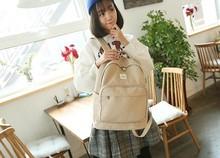 Лидер продаж 2017 новая корейская модная одежда для девочек рюкзак холст Колледж ветер Однотонная одежда Для женщин Рюкзак дизайнерский бренд школьная сумка-рюкзак