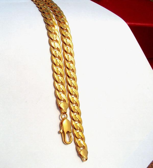 24K Solid Gold GF reale e dyanshme me rërë sekuence Kubani i - Bizhuteri të modës - Foto 4