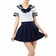 Uniforme Escolar japonês Vestido Cosplay Anime Girl Lady Lolita
