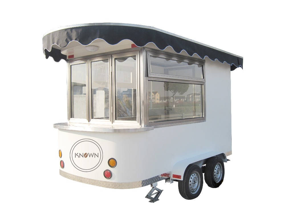 KNCR300 Cheap price good quality mobile pizza food cart carts for snack machine
