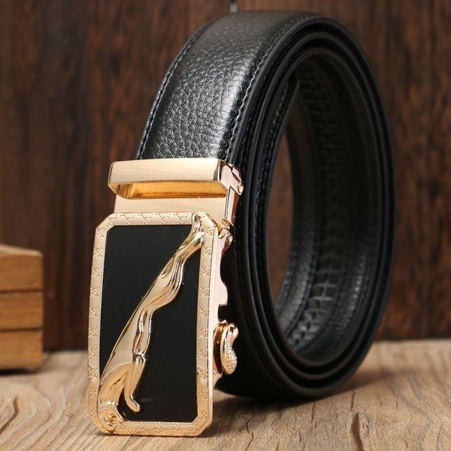 9fcfd712d 2019 Hot sale famous designer belts men high quality belt gold automatic  buckle size 130 cm casual waist strap metal jeans black
