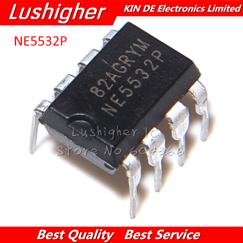 20Pcs NE5532P NE5532 DIP-8 Dual Low Noise Op-Amp TI IC new CF