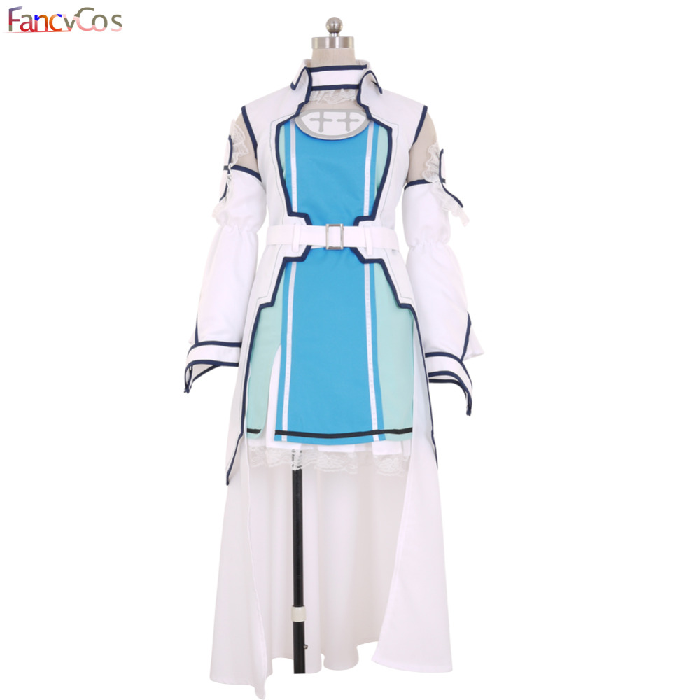 Halloween Women's Sword Art Online  SAO Yuuki Asuna Dress Cosplay Costumes Adult Costume Movie High Quality Deluxe