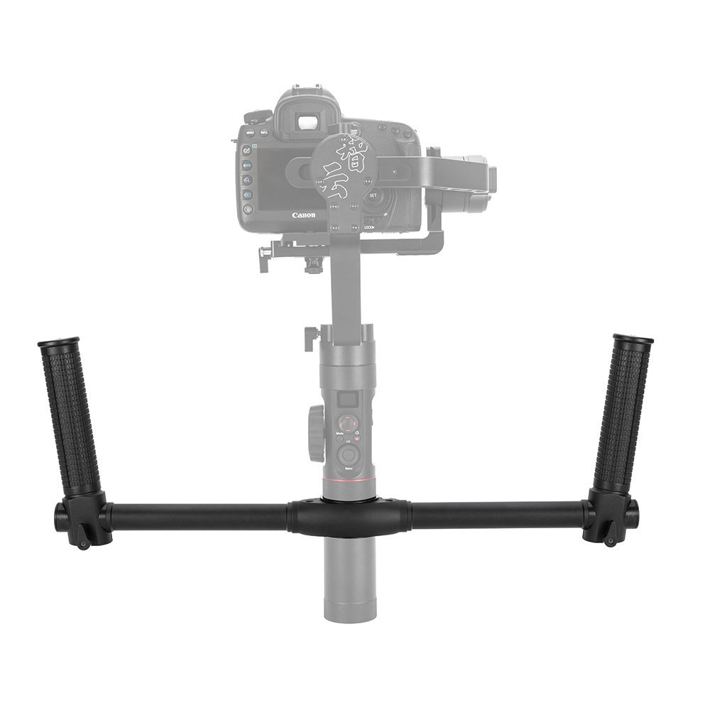 Zhiyun Dual Handheld Extended Handle Bar Grip Bracket Kit for Zhiyun Crane 2 Camera Stabilizer Gimbal smallrig universal camera grip wooden side handle for ronin s for zhiyun crane series handheld gimbal 2222