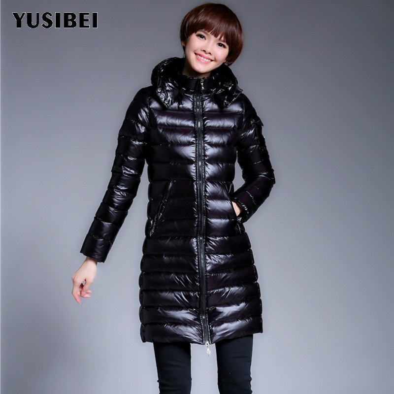 Vintage Classic Black Winter Down Jacket For Women 2018 Warm Parka Female Hooded Jacket Quality Coat 90% White Duck Down Coat