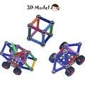 218 unids/set creativo palillo magnético bloques de construcción del castillo barras diseñador de juguetes de construcción enlighten diy niños juguetes de aprendizaje