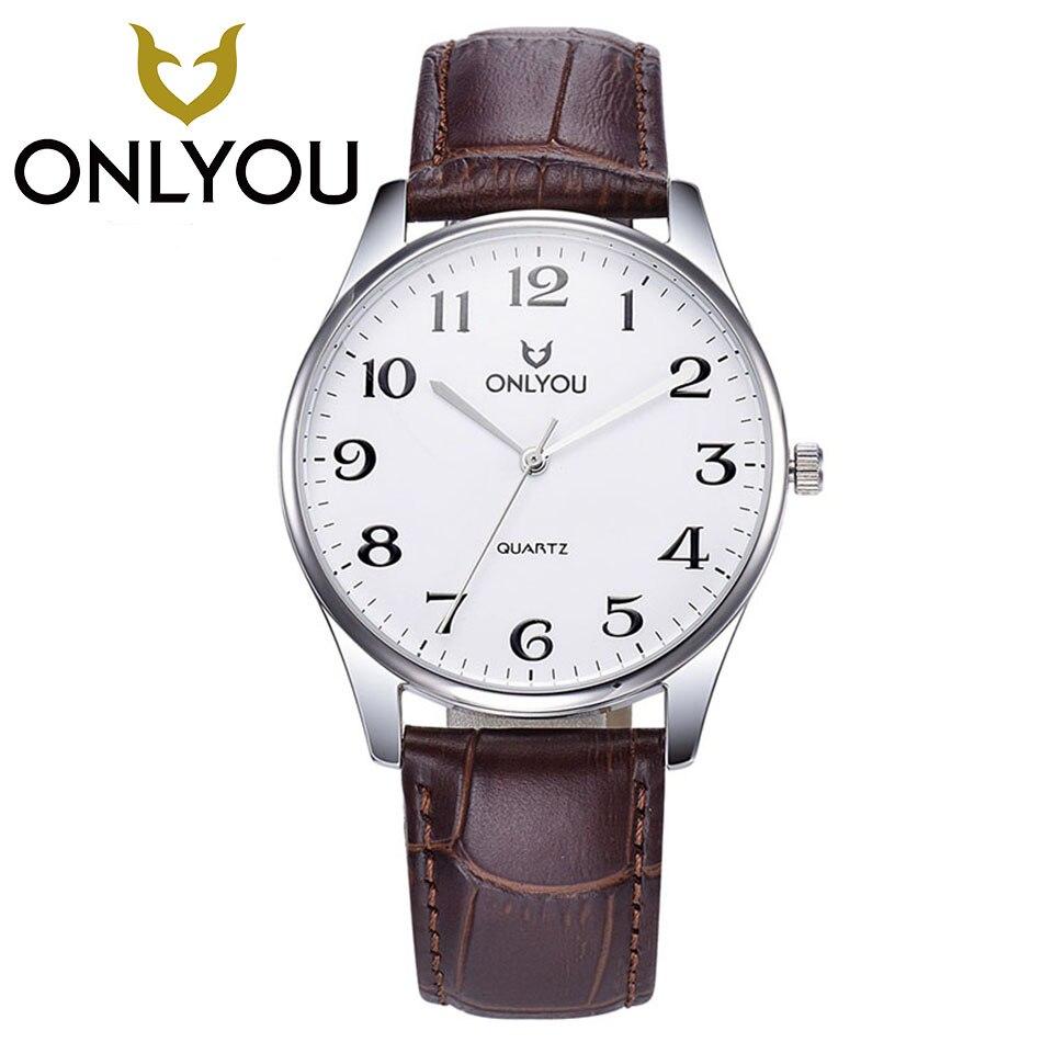 ONLYOU New Luxury Brand Women Men Classic Watches Men's Quartz Clock Male Sports Wrist Watch Men's Watch Ladies Gift Wholesale цена
