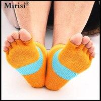 1Pair Fashion Non Slip Half Toe Pilates Socks Cotton Massage Comfortable Fashion Women Socks New Arrival