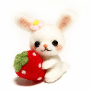 Image 4 - Wool Felt Needle Poked Kitting DIY Cute Animal Dog Panda Rabbit Wool Felting Package Non Finished Handmade Pets Toy Doll Decor