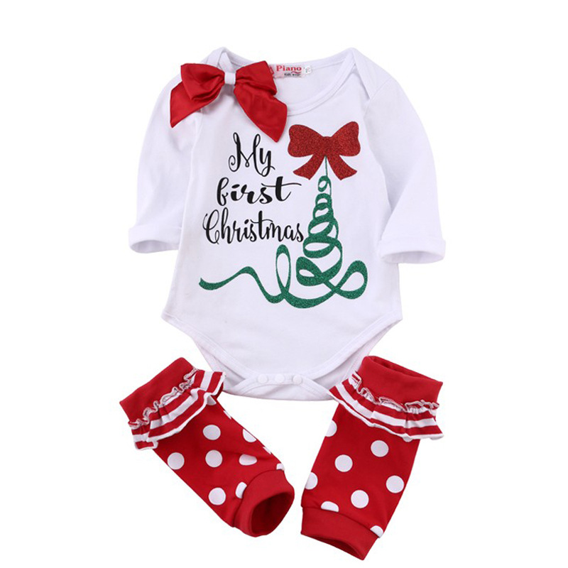 Christmas 2016 new infant Christmas gift climb clothes triangle ha jumpsuits