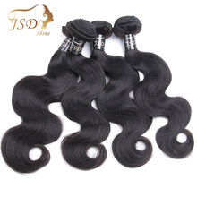 JSDShine Hair Brazilian Hair Weave Bundles Body Wave Human Hair Extensions 4 Bundles Natural Color 8-28 inch Non Remy(China)