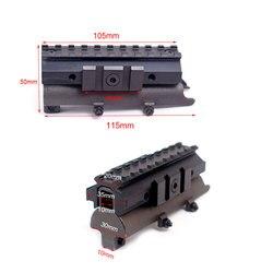 Rail de Picatinny en acier de SKS de bâti de portée tactique de 20 MM avec le couvercle supérieur de récepteur de SKS de bâti avec le tisserand de Rail de See-Thru de profil élevé
