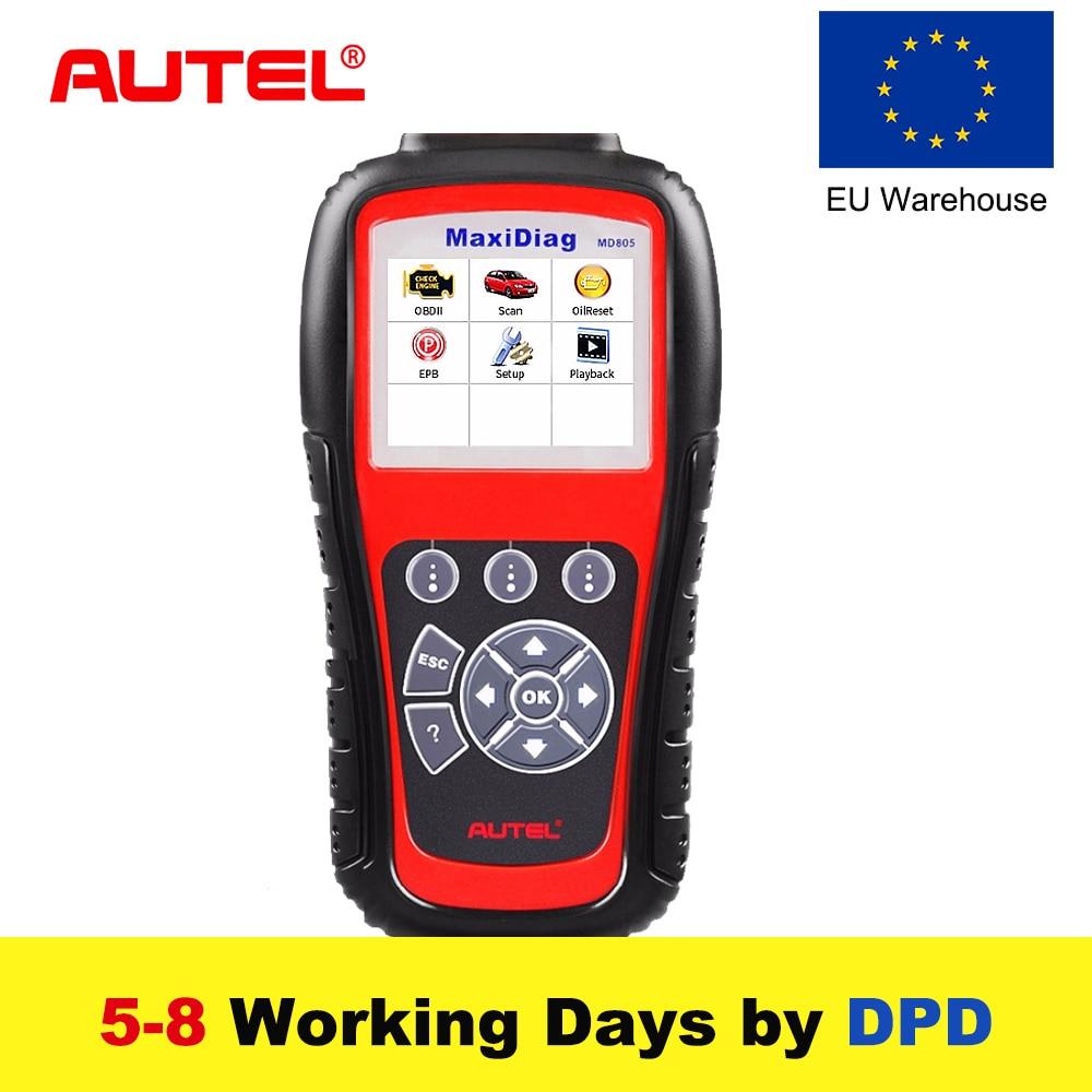 цена на New Autel MaxiDiag MD805 Full System OBD2 Scanner OBDII Diagnostic Tool Code Reader Scaner better than Autel MD802 Update Online