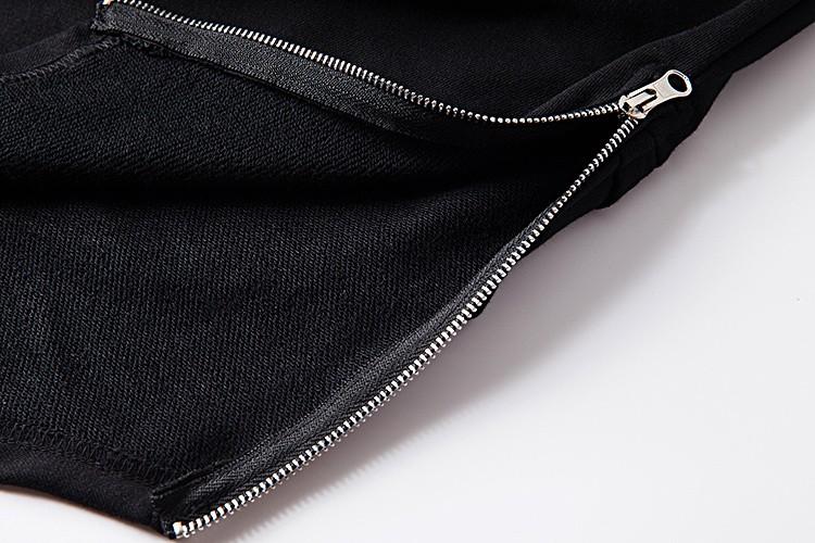 Cross Printed Hip Hop Sweatshirt Men 17Spring Streetwear Curved Hem Side Zipper Plain Mens Sweatshirts and Hoodies Man Clothes 39