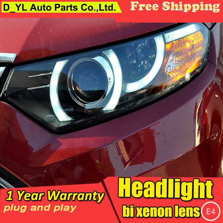 D YL Car Styling for Ford Ecosport Headlights 2013 Ecosport LED Headlight DRL Lens Double Beam