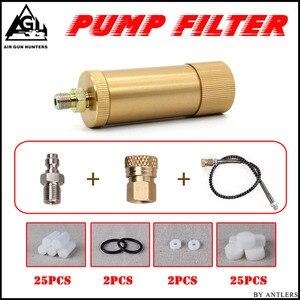 Image 1 - Bomba de mano PCP de alta presión 4500ps separador de aceite y agua con manguera, conector hembra y macho, tanque de aire pcp M10 * 1 set