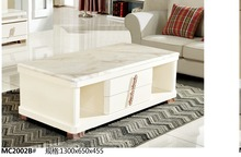 MC2002B Modern living room furniture marble top font b tea b font table with drawers font