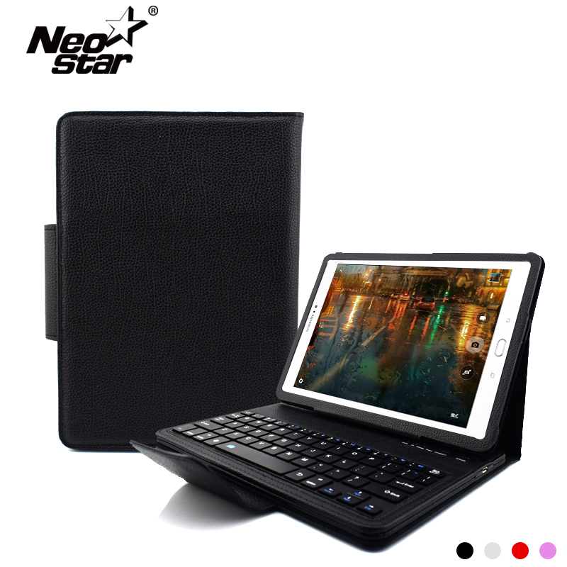 For Samsung Galaxy Tab S2 9.7 T810 T815 T550 Wireless Bluetooth Keyboard PU Leather Flip Cover Screen Protector + Stylus Pen bluetooth keyboard for samsung galaxy note gt n8000 n8010 10 1 tablet pc wireless keyboard for tab a 9 7 sm t550 t555 p550 case