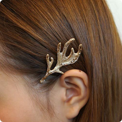 2016 New Fashion Women Lovely Retro Metal Deer Antlers Hairpins Bang Clip Accessory Hair Jewelry b1d25300 ABC