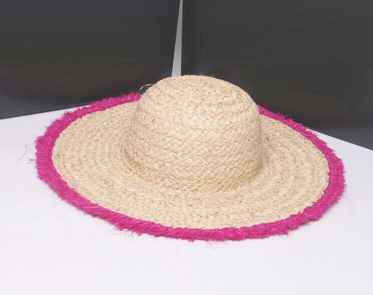 4fb0ac336e5 Bulk Hats 20pcs Kids Natural Big Brim Summer Sun Caps Children DIY Blank  Raffia Straw Hats