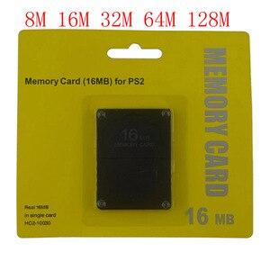 Image 1 - 8 16 32 64 128 MB כרטיס זיכרון עבור סוני עבור PS2 עם תיבה הקמעונאי