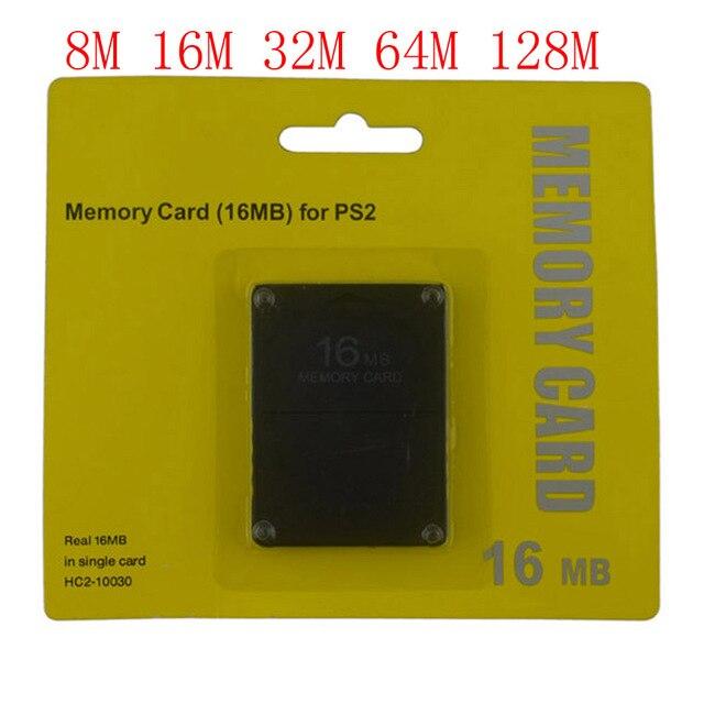 8 16 32 64 128 MB כרטיס זיכרון עבור סוני עבור PS2 עם תיבה הקמעונאי