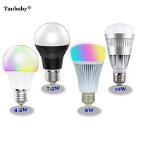 4 5W 7 5W 8W 10W E27 RGBW Bluetooth LED Bulbs Smart Mi Light RGB Color