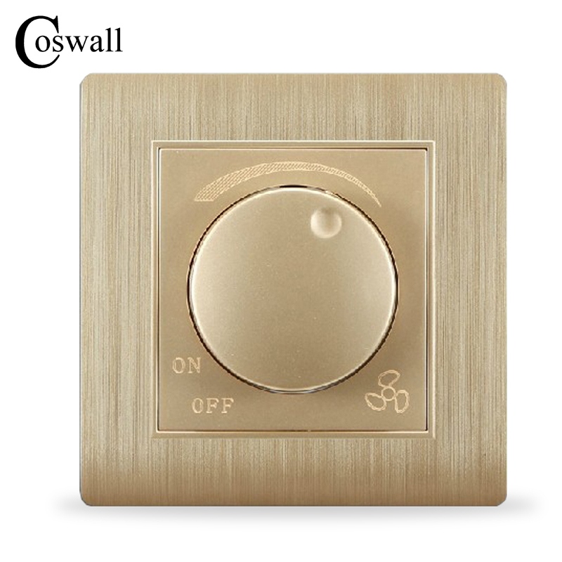 Free Shipping, Kempinski Luxury Wall Switch, fan speed controller, Champagne Gold, AC 110~250V, C31 series kempinski wall switch 3 gang 1 way light switch champagne gold color special texture c31 sereis 110 250v popular