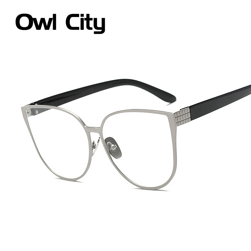 Fashion Oversized Women Eyeglasses Frame Brand Design Alloy Frame Optical Cats eye Eyeglasses Frame Eeywear For Female