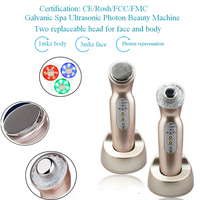 1MHZ 3MHZ Ultrasound Galvanic Ion Photon Therapy Microcurrent Face And Body Beauty Massager Free Shipping