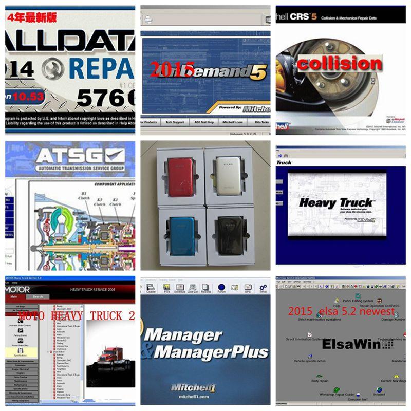 Prix pour 2017 New sortie Alldata et mitchell logiciel toutes les données auto logiciel de réparation avec Vivid atelier données logiciel de voiture dans 1 tb hdd