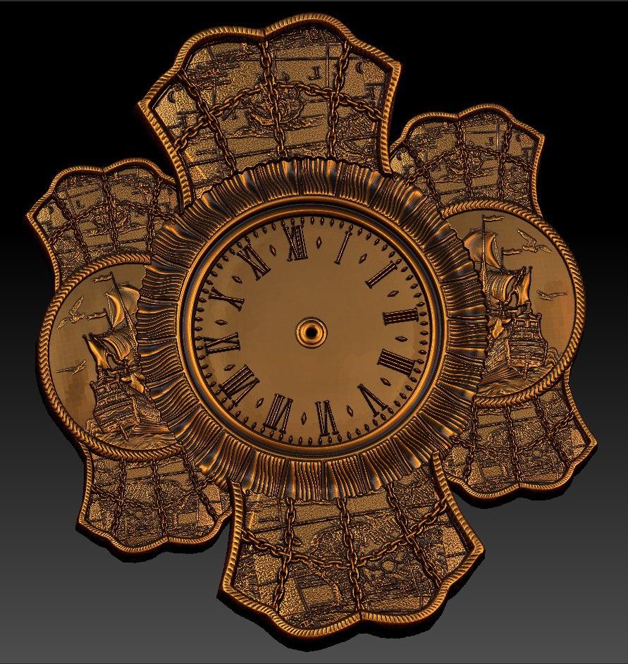 Digital File In STL Format Clock For CNC 3D Relief Carving Engraving C36-20