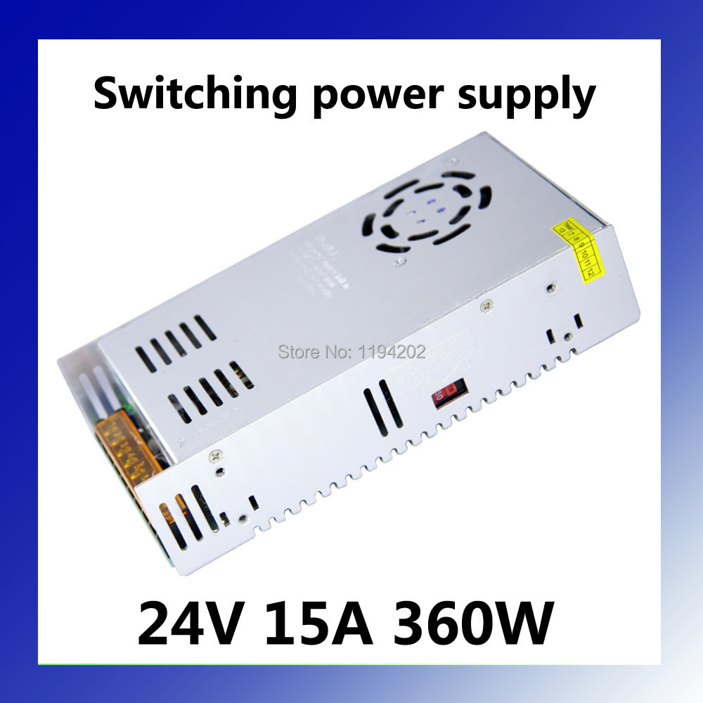 Constant Voltage DC <font><b>24V</b></font> <font><b>15A</b></font> 360W High Quality Led Switching <font><b>Power</b></font> <font><b>Supply</b></font> image