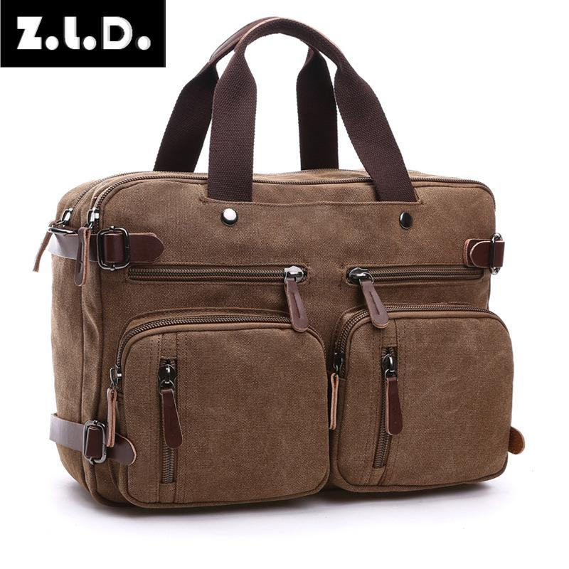 Z.L.D. Travel & Leisure Canvas Bags Mens Business Bulk Briefcases Travel Bags Large Weekend Bags Large Capacity Night Bags
