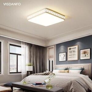 Image 2 - Visdanfo modern Acryle yuvarlak LED tavan lambası AC220V değiştirilebilir lambaları oturma odası için ışıkları fikstür yatak odası ev aydınlatma