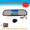 """Auto estacionamento assistência 2 em 1 4.3 """" polegadas TFT LCD espelho Monitor + estacionamento câmera de visão traseira do carro de estacionamento"""