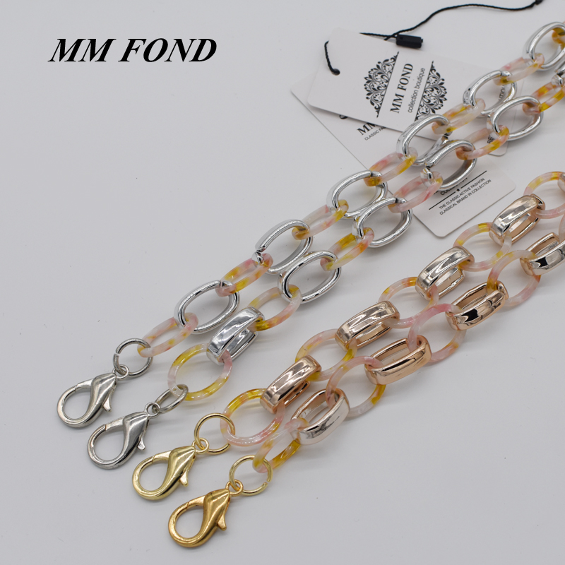 MM FOND beaded and acrylic strap women 30cm to 150cm length can be customised lady boho patchwork shoulder bag belts chic A369