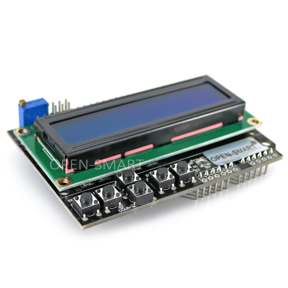 Lcd 1602 Display Keypad Shield Module For Arduino Expansion Board Oled 128x64 White Putih 096 Inch Iic Spi I2c In Industrial Computer