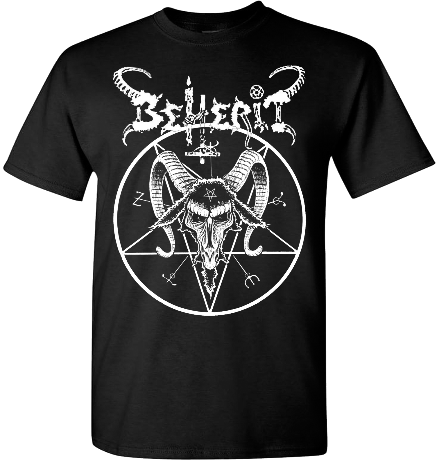 Beherit Pentagram T Shirt Black Metal Death Emperor Blasphemy Dark Throne Newest 2018 Men T Shirt Fashion Top Tee Light