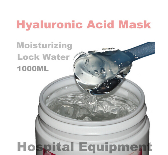 1KG Hyaluronic Acid Moisturizing Mask 1000g Whitening Lock Water Repair Disposable Sleeping Cosmetics Beauty Salon Products 1kg beauty salon equipment products rose water cream moisture whitening moisturizing globularness cosmetics oem