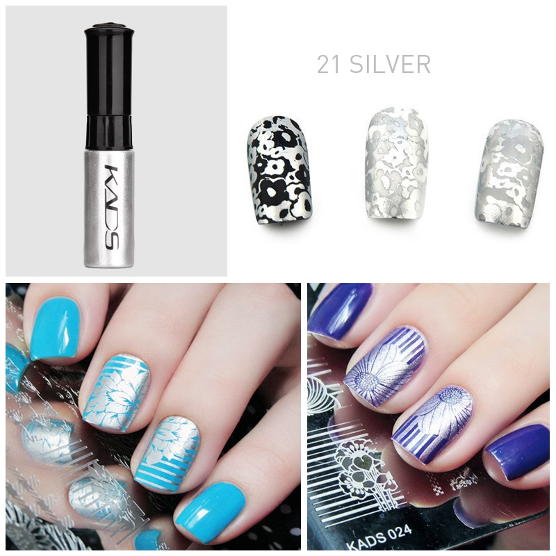 Image 4 - nail stamping polish for Nail stamp templates Varnish 10ml 1 Bottle/LOT Colorful Stamping Polish nail art pen 31 colors vernis-in Nail Polish from Beauty & Health